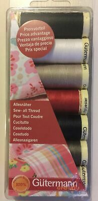 Gutermann SEW ALL Thread Set 100m Reels x 7 ASSORTED COLOURS