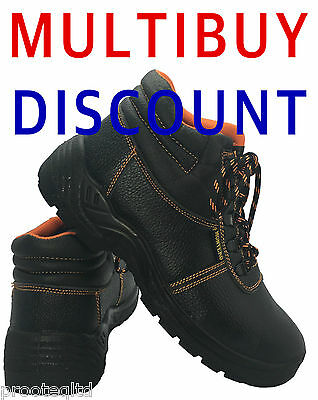 Chukka Work Safety Boots Leather Protection Footwear Steel Toe Cap Lightweight