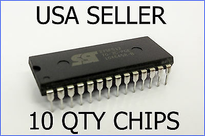 10 x NEW REAL SST 27SF512 EEPROM REBURNABLE ECU PCM CHIPS NEPTUNE CROME TUNING