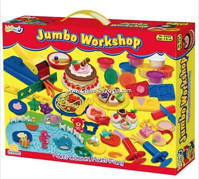 Brand New Doh-dough play doh Jombo workshop playset 50128
