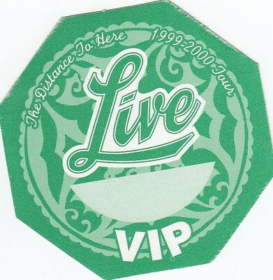 Live  - Backstage Pass Satin Sticker AUTHENTIC The Distance To Here VIP