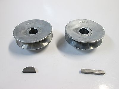 """Craftsman Belt Drive Table Saw, 2 1/2"""" Pulley Set with Keys,5/8"""" shaft/arbor-NEW"""