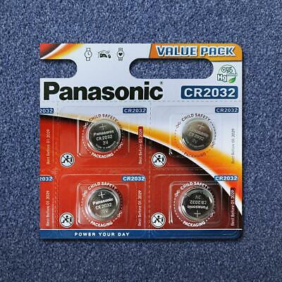 4x Panasonic CR2032 3V Battery Lithium Coin Cell For Doorbells Key Fobs Watches