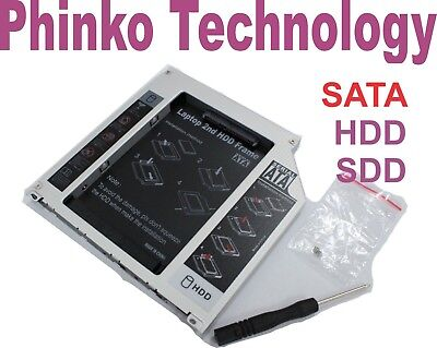 """2.5"""" 2nd HDD/SSD SATA Caddy Tray for Apple Unibody MacBook/MacBook Pro 13 15 17"""