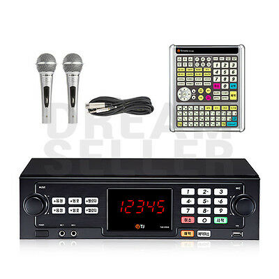 TJ Taijin Media TKR-355HK Korea Korean Karaoke Machine System +2 Mic, Big Remote