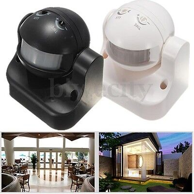 180 Degree Outdoor Security PIR Infrared Motion Sensor Detector Movement Switch