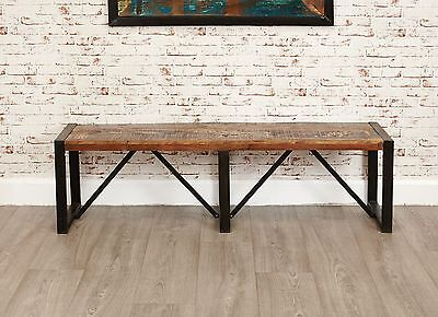 Urban Chic reclaimed wood furniture large dining room seating bench