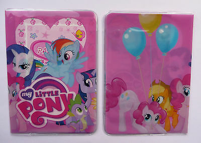 MY LITTLE PONY Childrens Passport Cover Case Protector Holder Kids Girls NEW