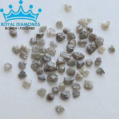 5 carats lot 100% Natural Loose Rough Diamonds Grey 2.60mm Raw Uncut Real