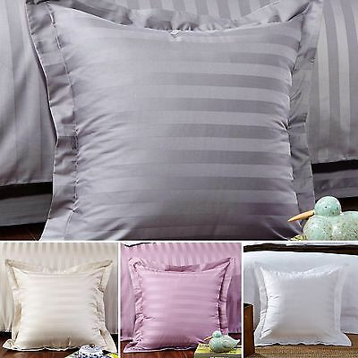 New Pair of 500TC 100% cotton Striped European Cushion cover Pillowcover 65x65+5