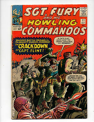 Sgt Fury and His Howling Commandos #11 + #14-20 (1964-65 Marvel) 8 Comics G+/VG+