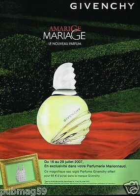 Publicité advertising 2007 Parfum Amarige de Givenchy