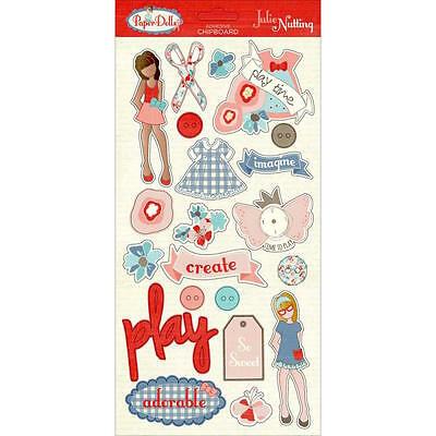 Photo Play Paper Julie Nutting PAPER DOLLS Collection Chipboard Stickers Dress