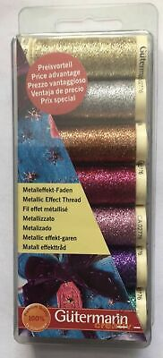 GUTERMANN METALLIC EFFECT THREAD SET - 7 Reels - CRAFTS