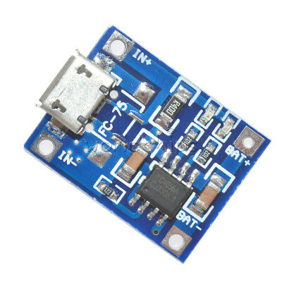 5PCS MICRO USB TP4056 5V 1A 18650 Lithium Battery Charging Module Board