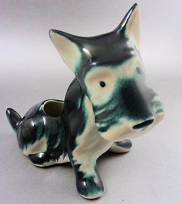 Green Scottie Dog Planter American Bisque St Pattys Dog