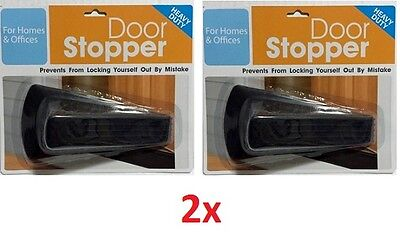 LOT OF Heavy Duty Extra Large Wide Black Door Wedge Stopper Rubber Floor Home