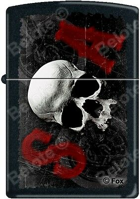 Zippo SOA Sons of Anarchy SAMCRO Skull Black Matte Windproof Lighter RARE