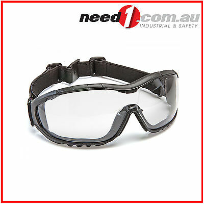 6 X Force360 Oil & Gas Clear Lens Safety Spectacle Glasses (with strap)