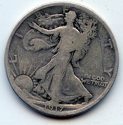 Walking Liberty half 1917-d (SEE PROMO)
