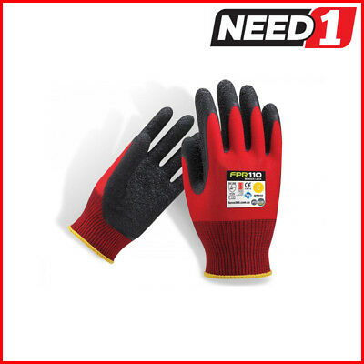 6 X Force360 Redback Latex Safety Gloves