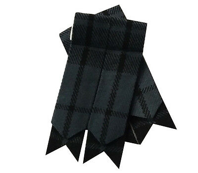 New Mens Kilt Flashes Grey Watch Tartan/Scottish Kilt Hose Scock Flashes Tartan/
