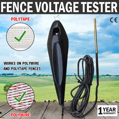 NEW Electric Fence Tester Voltage Level Poly Wire Tape Energizer Farm Fencing