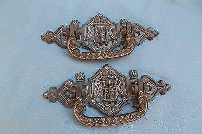 Set of 2 solid metal cabinet furniture project great patterned exquisite handles