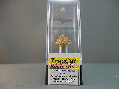 Router Bit- 12mm DIAMOND Vee Grooving DRB128C (TruaCuT)