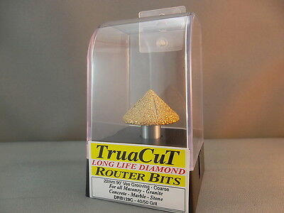 Router Bit- 17mm DIAMOND Vee Grooving DRB129C (TruaCuT)