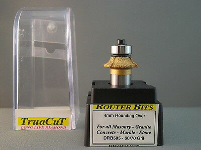Router Bit- 4mm DIAMOND RoundingOver DRB505 (TruaCuT)