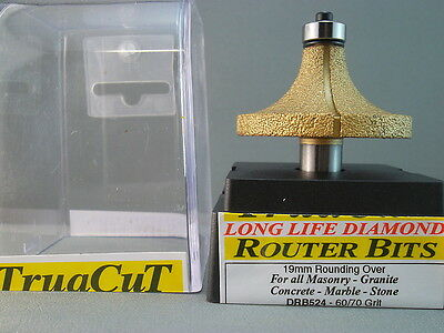 Router Bit- 19mm DIAMOND RoundingOver DRB524 (TruaCuT)