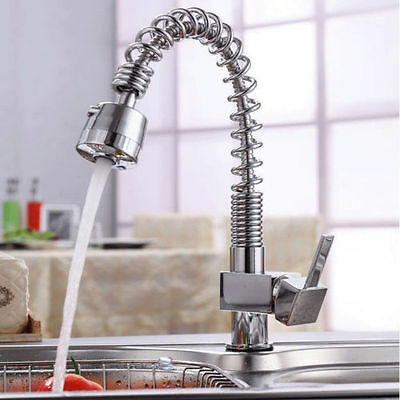 Spray Swivel Spring Brass Pull Out Kitchen Basin Mixer Tap Sink Laundry Faucet