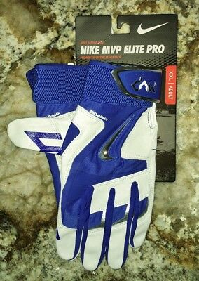 NIKE MVP Elite Pro 2.0 Royal Blue Bone Baseball Batting Gloves NEW Mens 2XL XXL