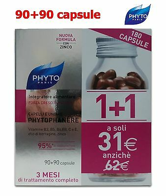 Phyto Phytophanere Integratore Cura Capelli Unghie Offerta 1+1 180 90+90 Capsule