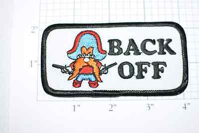 Yosemite Sam BACK OFF Funny Vintage Iron-On Embroidered Clothing Patch Cool Fun