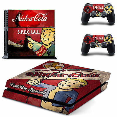 Vinyl Skin Sticker Cover Decal For Sony PS4 Playstation Console + 2 Controller