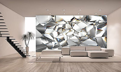 Photo Wallpaper Crystal Glass GIANT WALL DECOR PAPER POSTER FOR BEDROOM