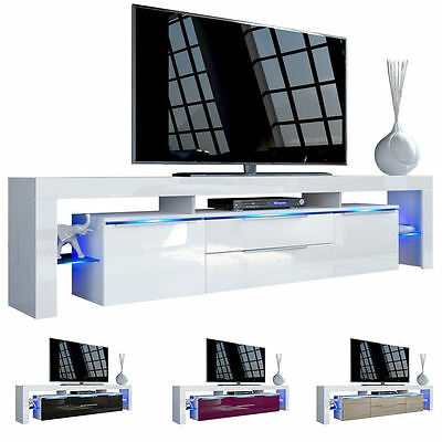 "White High Gloss Modern TV Stand Unit Media Entertainment Center ""Lima Nova V2"""
