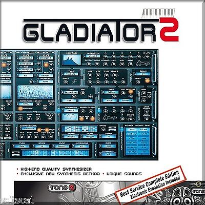 New Best Service Tone2 Gladiator 2 Expanded Synthesizer Software eDelivery