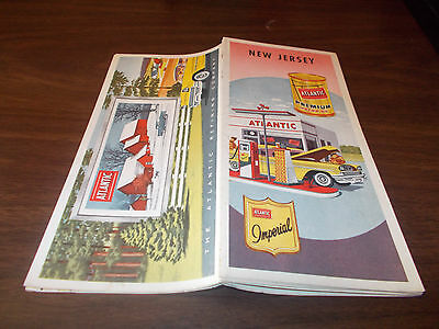 1959 Atlantic New Jersey Vintage Road Map