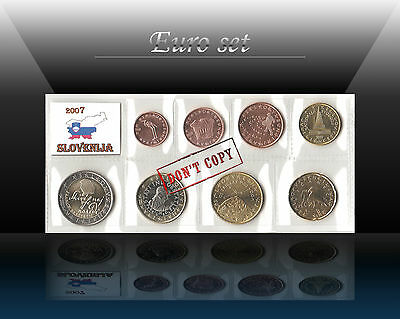SLOVENIA complete EURO SET - 8 coins SET 2007 (1 cent - 2 Euro) UNC from Rolls