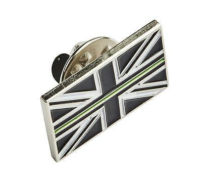 Thin Green Line Union Jack UK GB Pin Badge Ambulance / Paramedic