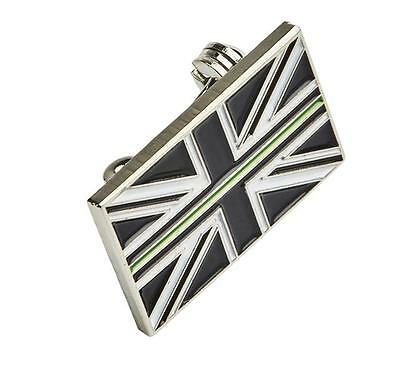 Thin Green Line Union Jack UK GB Brooch Badge Ambulance / Paramedic