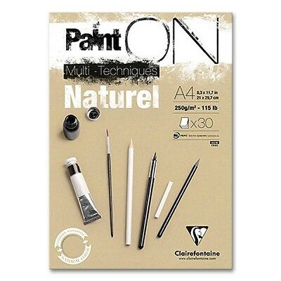 Zeichenblock A4 Natural Paint-On, braunes Papier
