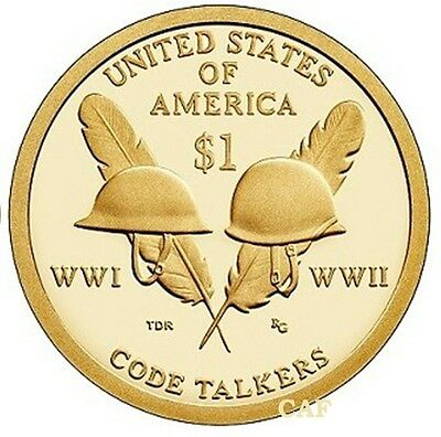 2016 S Proof Native American Code Talkers Dollar Gem Deep Cameo Coin In Stock