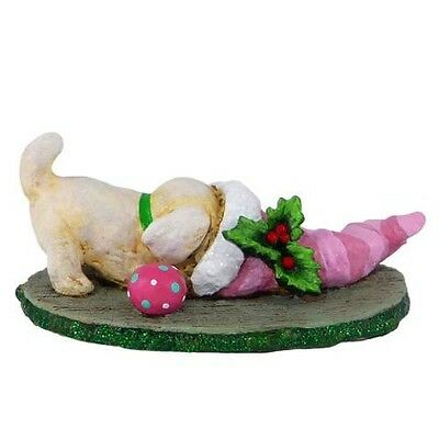 NAUGHTY OR NICE? by Wee Forest Folk, WFF# M-286a LTD, White Puppy