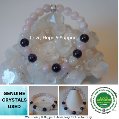 1 Fertility/Infertility TTC Amethyst/ Rose Quartz/Moonstone IVF Support Bracelet