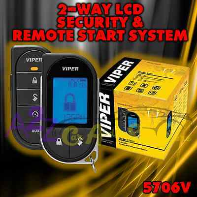 Viper 5706V Lcd 2-Way Car Alarm Remote Start Keyless System Pager Remote 1 Mile