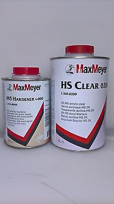 Max Meyer 0200 With 6000 Hardner 2K Clear Coat Car Lacquer 1.5ltr Kit